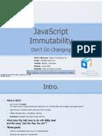 JavaScript Immutability Dont Go Changing
