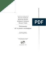 Dictionnaire de La Pensee Sociologique Consommation 2