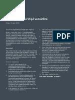CM Exam Paper 2012 (Metric)