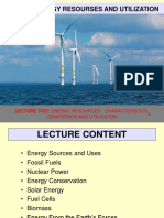 Lecture 2-Energy Resourses and Utilization