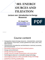 LECTURE 1-Introduction to Energy Resources