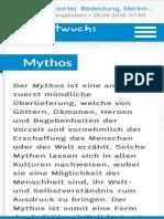 Mythos - Bedeutung, Merkmale und Beispiele