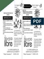 Panfleto de Recreacion