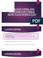 Formal (Interaction at Workplace)