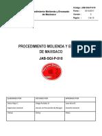 Jab-sgi-p-010 Procedimiento Molienda y Envasado de Maxisaco
