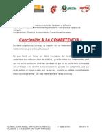 Conclusión A LA COMPETENCIA I