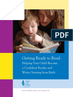 Helping Your Child Become a Confident Reader and Writer Starting From Birth