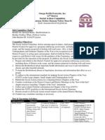 2010 Fall DCM Report - Social Action