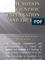 Scientific Explanation and Truth Gst 311(2013)