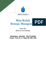 7, SM, Adrianto, Hapzi Ali, Business Level Strategy , Universtitas Mercu Buana, 2018