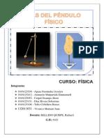 1. Imforme Laboratorio Fisica II Pendulo