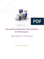 Occupational Hazards, Interventions and Performance