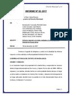 Informe de Visita a La Municipalidad de Nueva Arica