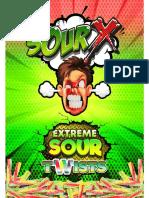 SOUR X LABEL 3D Twists Green Logo