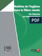 Cahier Securite Maitrise Hygiene Filiere Viande Eleveur Au Consommateur