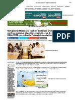 Manipulare_ Mediafax a Tăiat Din Declarația Unui Lider de ONG Pentru a Promova Educația Sexuală În Școli. Ce a Spus, În REALITATE, Președintele Federației Asociațiilor de Părinți _ ActiveNews