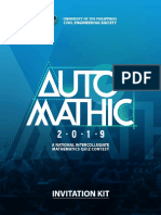 AutoMATHic 2019 Invitation Kit