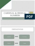 Cardinal Ordinal