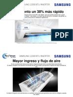 Catálogo comercial Samsung 12000 BTU INVERTER