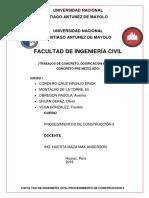 Trabajos de Concreto, Dosificacion en Obra y Concreto Pre Mezclado Final 1