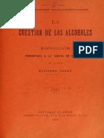 La Cuestion de Los Alcoholes de Eliodoro Yáñez