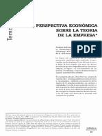 Una perspectiva económica sobre la teoría de la empresa - Oliver Hart