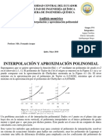 Interpolacion y Aproximacion Polinomial