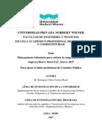 Planeamiento Tributario Para El Fortalecimiento en La Toma de Decisiones de Las Empresas Constructorias de La Provincia de Huancayo