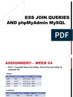 Assignment MISC 373 01 F2018 BDBA MS Access JoinQueries and PhpMyAdmin MySQL