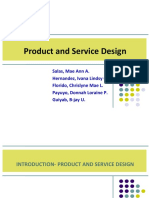 Product and Service Design Print