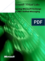 Configuring Microsoft Exchange Server Unified Messaging