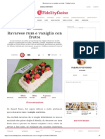Bavarese Rum e Vaniglia Con Frutta - Fidelity Cucina