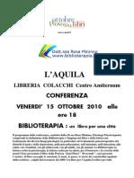 15 Ottobre Conf. L'Aquila