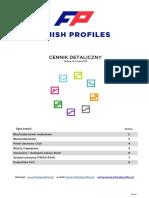 Finish Profiles - Cennik Detaliczny 4 Maja 2018
