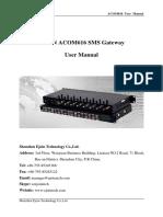 SMS Modem User Manual