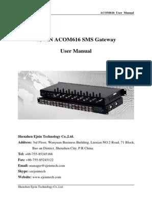 SMS Modem User Manual   Ip Address   Subscriber Identity Module