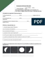 Evaluación C.naturales Fases de La Luna