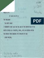Linus Pauling Telegram