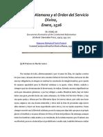M. Luther - [1526] La Misa Alemana y El Orden Del Servicio Divino