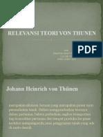 Relevansi Teori Von Thunen