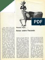 Pigia, Ricardo. Notas Sobre Facundo. Punto de Vista 3. 8(1980)