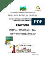 Proyecto de Enseñanza Del Inglés Como Segunda Lengua.