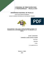 Aplicación de La Nic 18 en La Venta de Bienes Futuros y Su Incidencia en La Determinación Del Igv y El Impuesto a La Renta