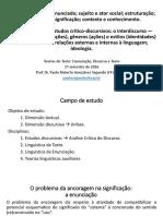 Módulos 01 e 02 - Texto Discurso Enunciação Enunciado Fundamentos de ACD