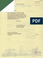 Cheynne Mayor Bill Nation Letter