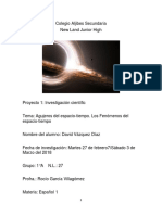 Investigacion Cientifica de Los Agujeros Espaciales