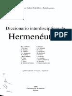 HERMENEUTICA DICCIONARIO ROMANTICISMO