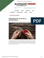 Problemas de Salud en La Adolescencia – Elbibliote.com