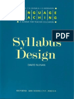 [David Nunan] Syllabus Design