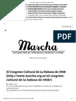 El Congreso Cultural de La Habana de 1968 _ Marcha